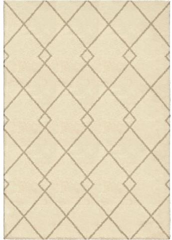 Modern Grace Plush Criss-Cross Crisscross Ivory Large Area Rug