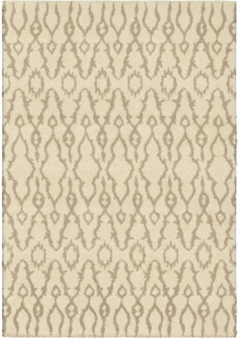 Modern Grace Plush Abstract Alagara Ivory Large Area Rug