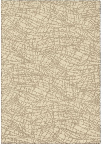 Modern Grace Plush Abstract Uphill Ivory Small Area Rug