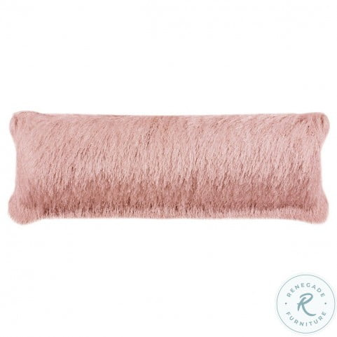 Indoor And Outdoor Shag Blush Small Pillow From Safavieh Coleman Furniture
