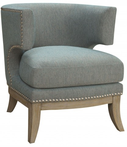 Blue Chenille Accent Chair