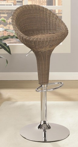 Adjustable Rattan Bar Stool