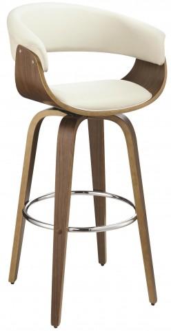 Ecru Upholstered Bar Stool
