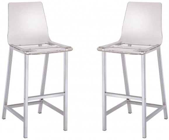 Clear Bar Stool Set of 2