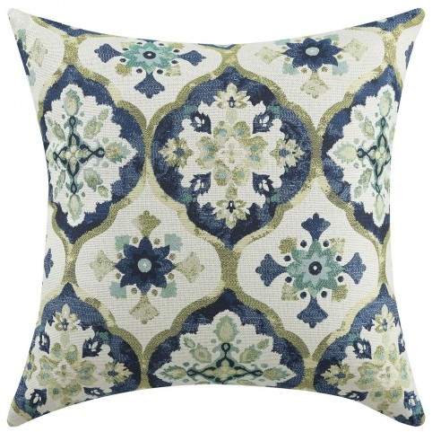 Blue And Green Kaleidoscope Accent Pillow Set of 2