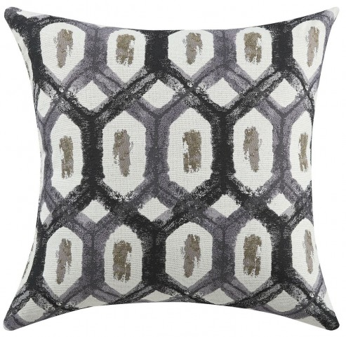Charcoal Turtle Shell Accent Pillow Set of 2