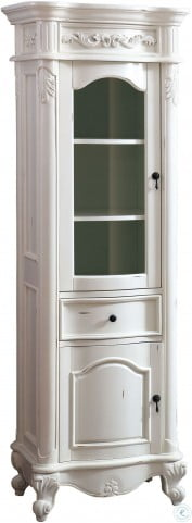 """Provence Antique White 24"""" Linen Tower"""