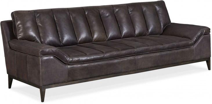 Kandor Black Leather Living Room Set