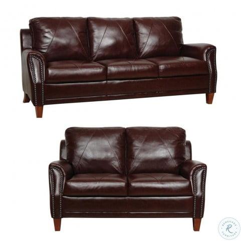 Austin Italian Leather Living Room Set