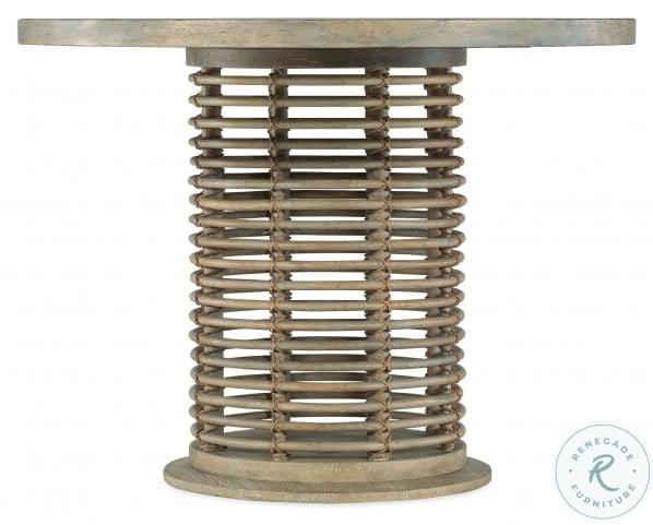 """Surfrider Light Natural Rattan 48"""" Bistro Table Set"""