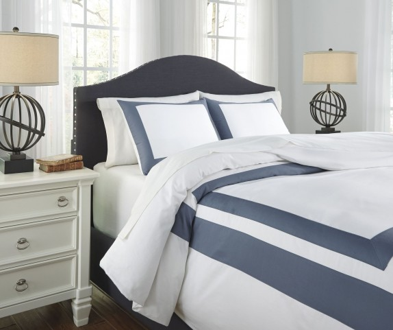 Daruka Blue Queen Duvet Cover Set