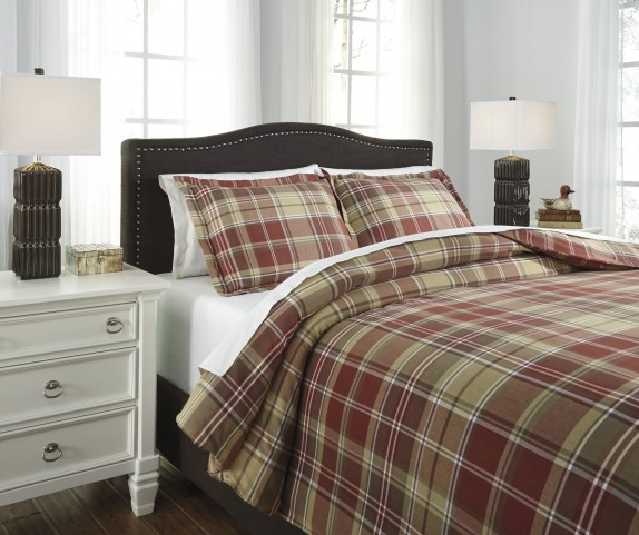 Danail Red and Gold and Green King Duvet Cover Set