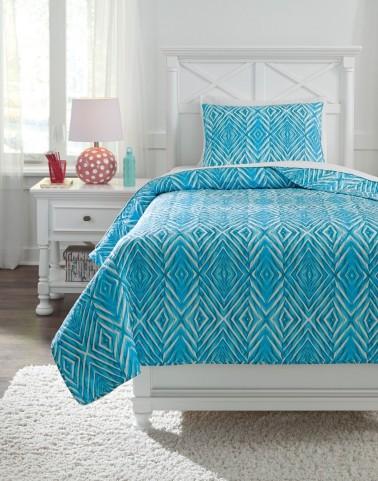 Jolana Turquoise Full Quilt Set