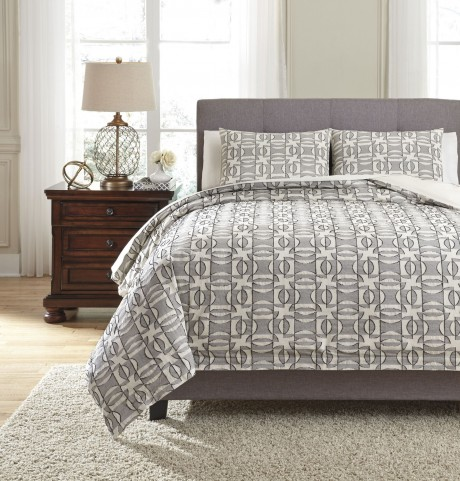 Nilay Black and Ivory King Duvet Cover Set