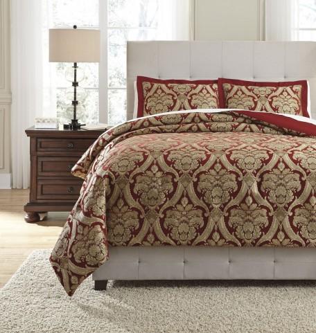 Asasia Garnet Queen Comforter Set