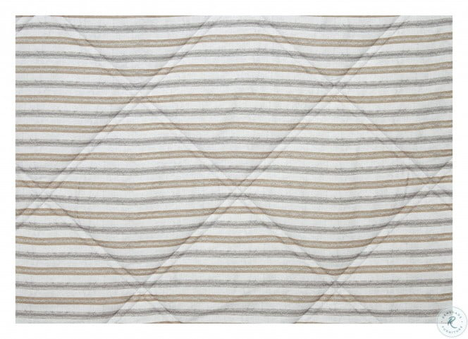 Rhey Tan and Gray 3 Piece Full Comforter Set