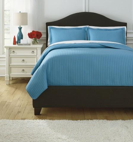 Raleda Turquoise Queen Comforter Set