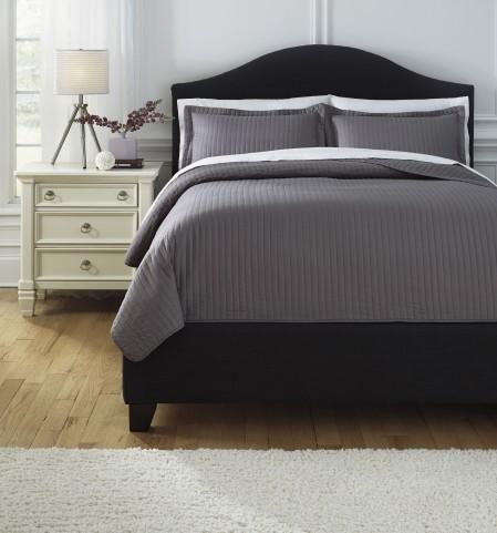Raleda Gray Queen Comforter Set