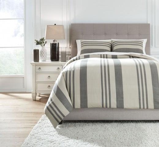 Schukei Natural And Charcoal King Comforter Set