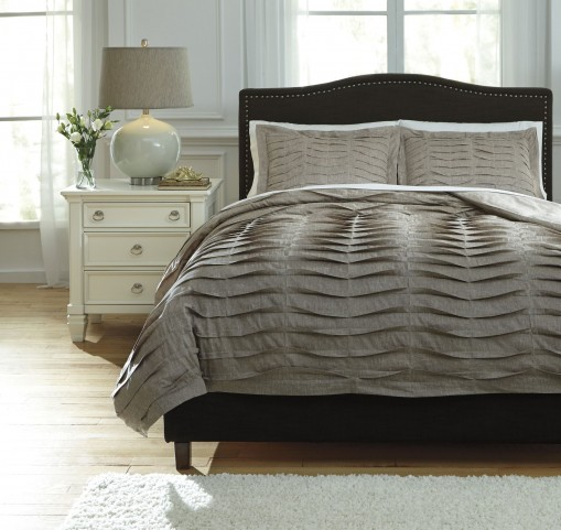 Voltos Dark Brown Queen Duvet Cover Set