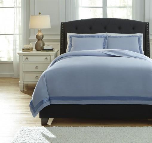Farday Soft Blue King Duvet Cover Set