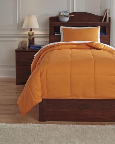 Plainfield Orange Full Comforter Set