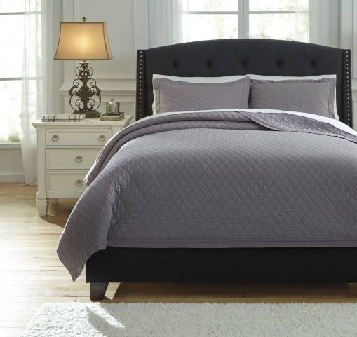 Alecio Gray King Quilt Set