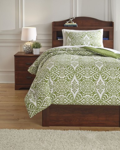 Ina Green Twin Comforter Set