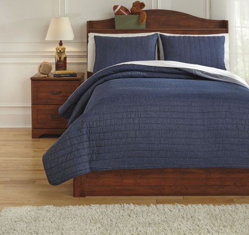 Capella Denim Full Quilt Set