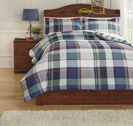Mannan Plaid Twin Comforter Set