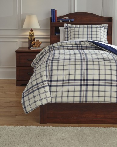 Derick Plaid Twin Comforter Set