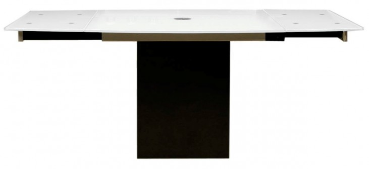 Ritz Frosted Glass Quadrato Extendable Dining Table