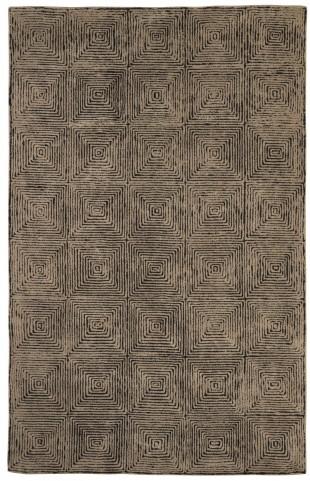 Kanan Taupe and Black Medium Rug