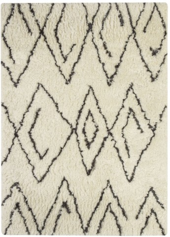 Mevalyn Black and White Medium Rug