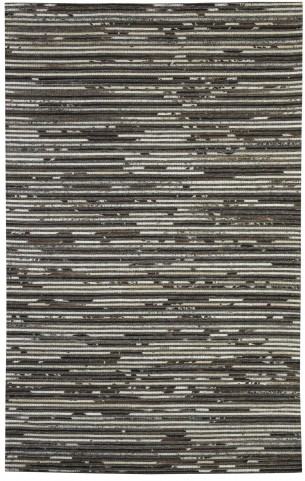 Maddoc Dark Brown and White Large Rug