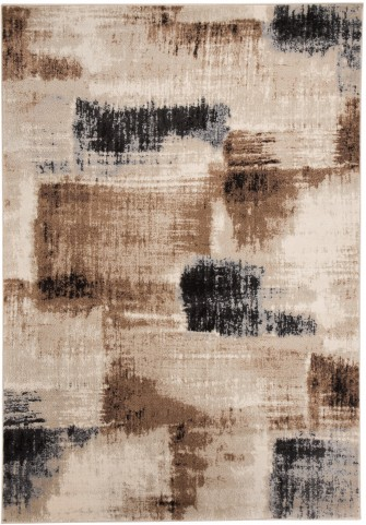 Calvin Brown and Black Large Rug