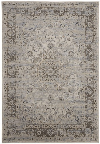 Kyan Blue and Ivory Medium Rug