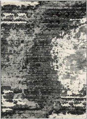 Roskos Black and Gray Medium Rug