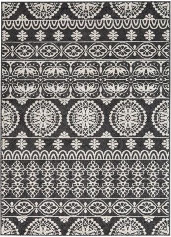 Jicarilla Black and White Small Rug