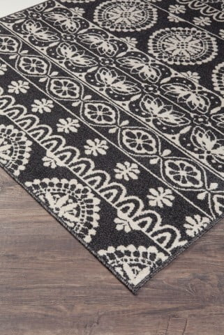 Jicarilla Black and White Large Rug
