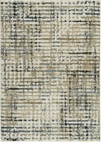 Mahina Tan and Blue and Cream Medium Rug