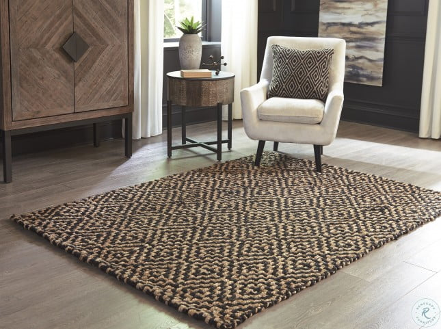 Broox Natural And Black Small Rug