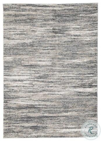 Gizela Ivory Beige and Gray Large Rug