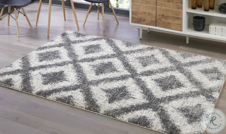 Junette Cream and Gray Small Rug