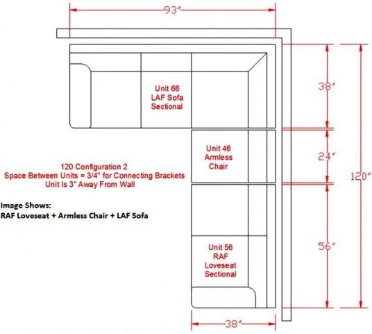 Bladen Slate LAF Sectional