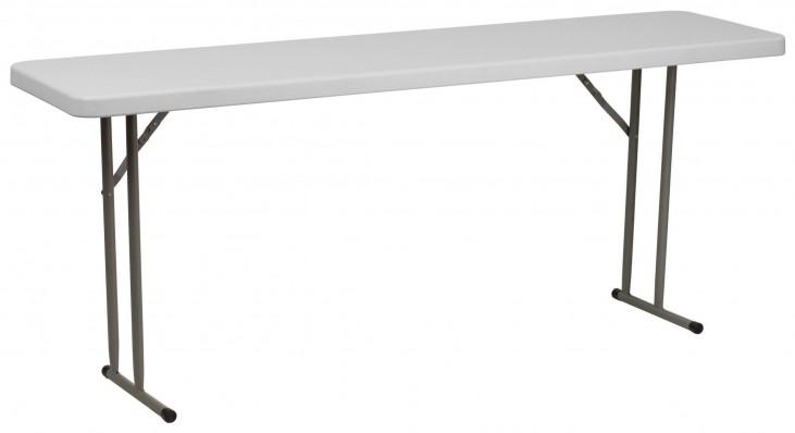 "72"" Granite White Plastic Folding Training Table"