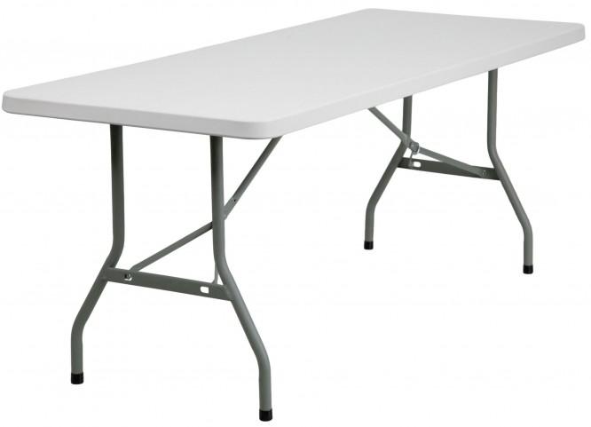"30"" Granite White Plastic Folding Table"