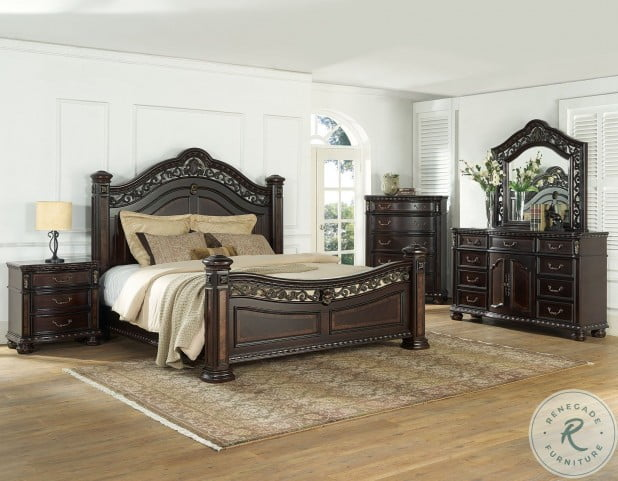 Monte Carlo Rich Cocoa Queen Poster Bed
