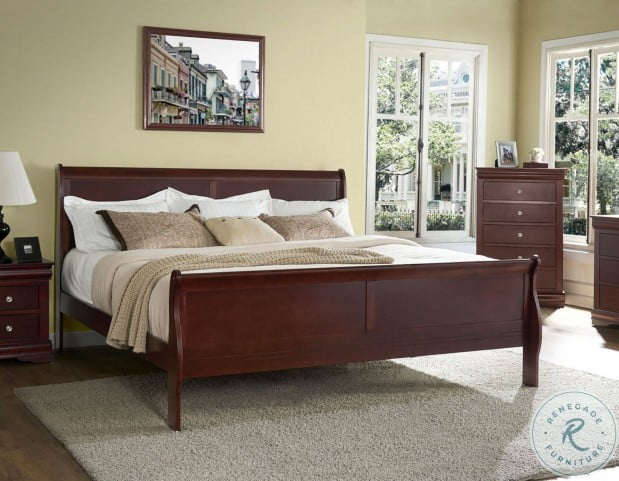 Orleans Cherry King Sleigh Bed