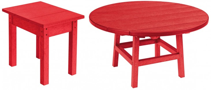 """Generations Red 37"""" Round Occasional Table Set"""